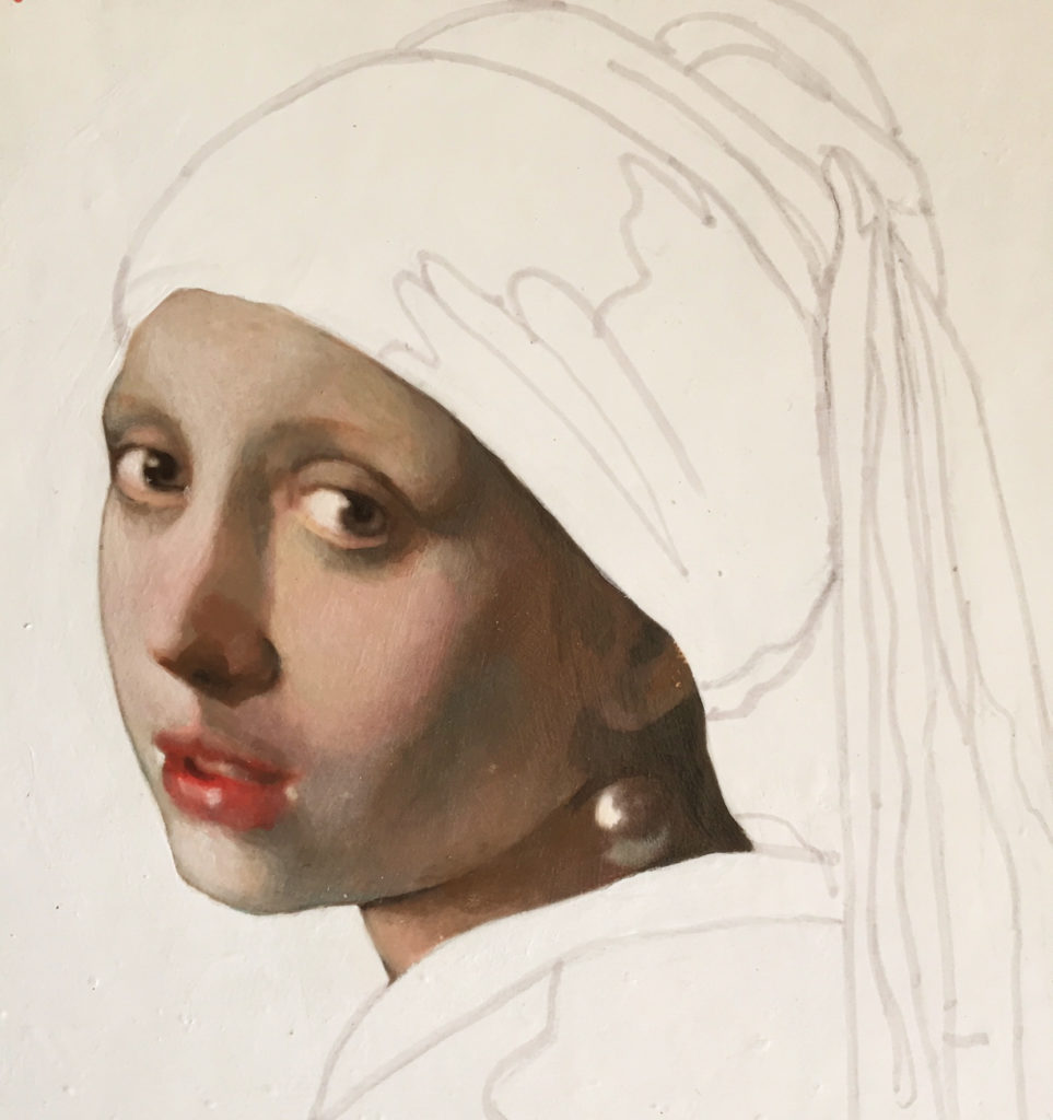 Anonymous of Vermeer, artist Tania Luchinkina (TaniaL)
